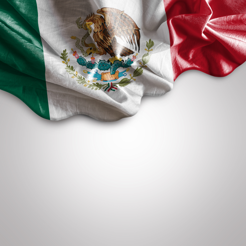 Waving flag of Mexico
